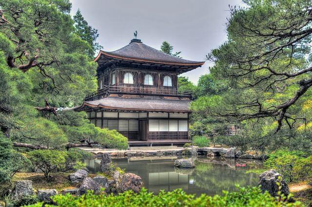 ginkaku ji temple 1464542 640 - Ogrody japońskie - sztuka ogrodowa
